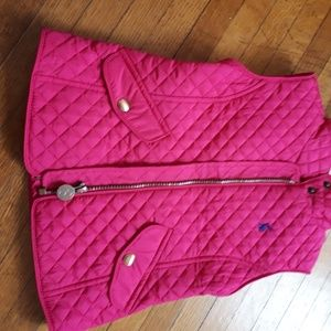 Hot pink girl's quilted vest